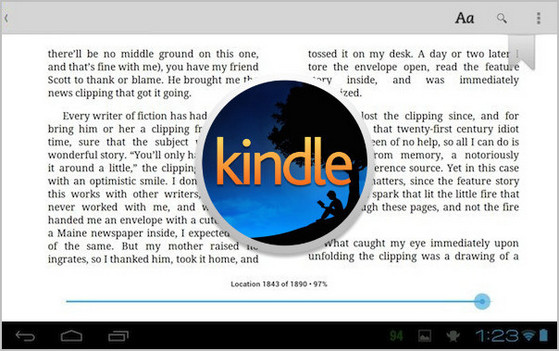 Read Kindle Books on Android Tablets